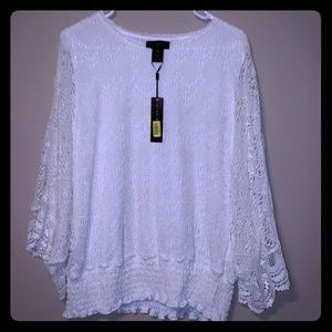 Investments 2 crochet lace off white 2xl batwing
